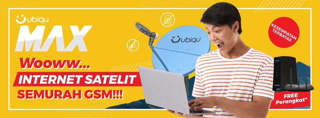 ubiqu max - internet satelit semurah gsm